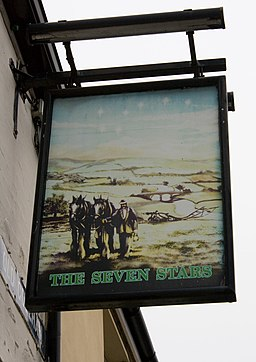 The Seven Stars, Old Coleham, pub sign - geograph.org.uk - 1691002
