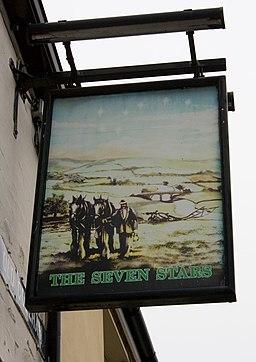 The Seven Stars, Old Coleham, pub sign - geograph.org.uk - 1691002
