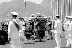 Eben Dönges - The state funeral of Dr. T. E. Dönges. Cape Town, January 1968