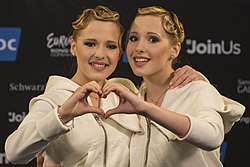 The Tolmachevy Sisters, ESC2014 Meet & Greet 28 (crop).jpg