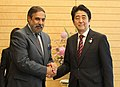 The Union Minister for Commerce & Industry and Textiles, Shri Anand Sharma meets the Prime Minister of Japan, Mr. Shinzo Abe, in Tokyo on May 17, 2013.jpg