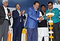 The Union Minister for Science & Technology, Earth Sciences and Environment, Forest & Climate Change, Dr. Harsh Vardhan lighting the lamp at the launch of the Clean Air Campaign, in New Delhi.jpg