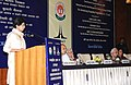 The Union Minister for Tourism & Housing and Urban Poverty Alleviation, Kum. Selja addressing at the signing ceremony of an MoU between Central Board of Secondary Education (CBSE) and National Council for Hotel Management.jpg