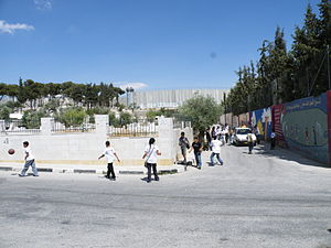 Aida Camp - Image: The Wall Between Aida and Occupied Bethlehem