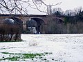 The Wharncliffe Viaduct from Brent Meadow (snow scene) - geograph.org.uk - 1186090.jpg