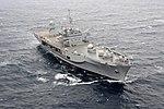 The command ship USS Blue Ridge (LCC 19) transits the South China Sea March 11, 2014 140311-N-GR655-456.jpg