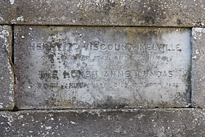 Henry Dundas, 1st Viscount Melville - The simple stone to Henry Dundas, in the family vault. Old Lasswade Kirkyard