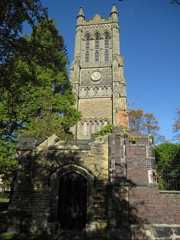 The tower and ruins of Christ Church, Crewe - geograph.org.uk - 1546914