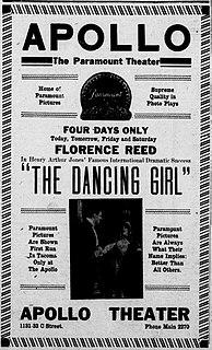 <i>The Dancing Girl</i> (film) 1915 film by Allan Dwan