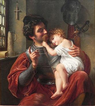 Alte Nationalgalerie - Image: Theodor Hildebrandt Krieger u Kind