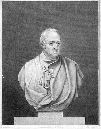 George Wyndham, 3rd Earl of Egremont - Engraving of a bust by Carew