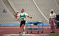 Thomas Bradley throwing shot put, 1992 Paralympics.jpg
