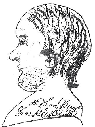 Thomas S. Hinde - A rough sketch (the only known portrait of him)