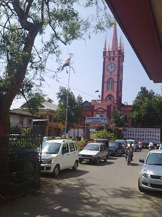 Thrissur Municipal Corporation - Municipal Corporation Building, Thrissur seen from M.O. Road, Thrissur