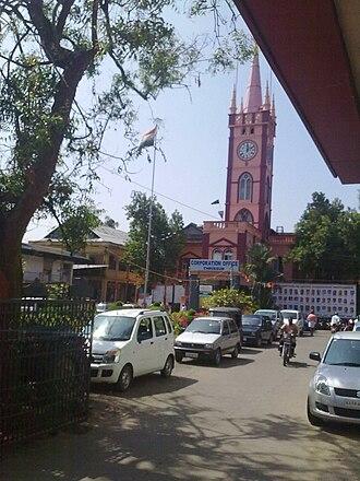 Thrissur Municipal Corporation - Municipal Corporation Building, Thrissur seen from M.O. Road, Thrissur