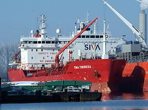 Tina Theresa - IMO 9478298 - Callsign OWEU2 at Port of Amsterdam.JPG