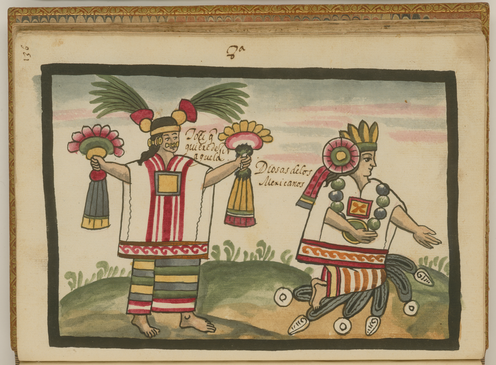 Toci and Xochiquetzal, Two Aztec Goddesses WDL6731