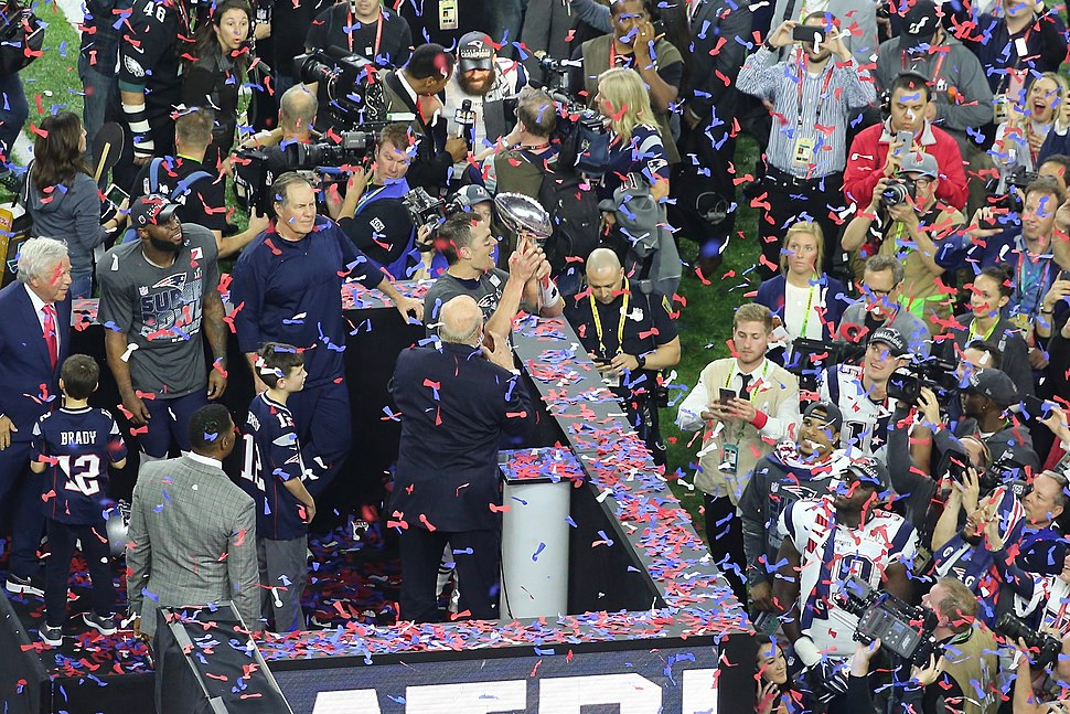 Tom Brady with Vince Lombardi trophy
