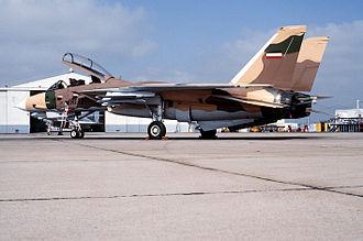Aggressor squadron - An F-14A Tomcat aircraft from the Navy Fighter Weapons School painted to resemble an Iranian F-14.