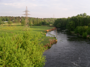 Pekhorka River - Pehorka River as seen from the railway bridge between Tomilino and Kraskovo