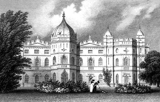Tong Castle around 1850 Tong Castle Shropshire 2.jpg