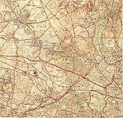 Topographic maps of Arlington, Belmont, Lexington Massachusetts 1946