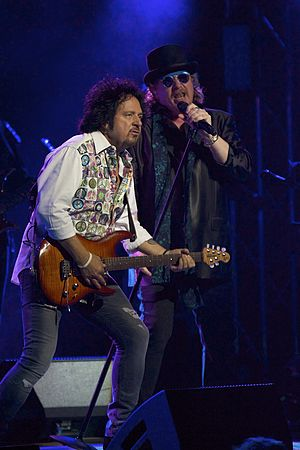 Steve Lukather - Lukather and Joseph Williams performing with Toto, 2016