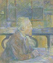 Vincent van Gogh, pastel drawing by Henri de Toulouse-Lautrec, 1887.