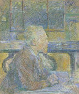 <i>Portrait of Vincent van Gogh (1887)</i> painting by Henri de Toulouse-Lautrec