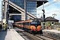 Train passing Lansdowne Road station, Dublin (geograph 3582376).jpg