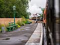 Trains meeting at Kingscote (9130950222).jpg