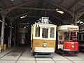 Tram Depots - National Tramway Museum - Crich - Leeds 399, Oporto 273 & Southampton 45 (15197608209).jpg
