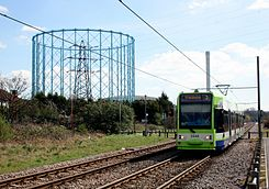 Tram by the Gasworks (geograph 4329106).jpg