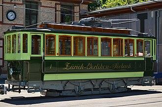 Zürich Tram Museum - Image: Tramdepot (Tram Museum) Burgwies in Zürich Burgwies 'Zürich Oerlikon Seebach' 2013 06 13 14 08 00