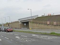 Tramway bridge at Bankhead (geograph 3505936).jpg