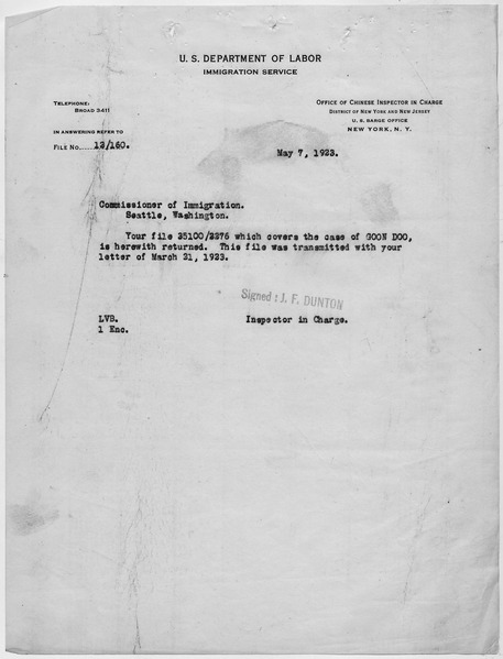 File:Transmittal letter - NARA - 278522.tif
