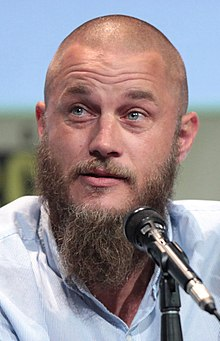 Fimmel at a microphone