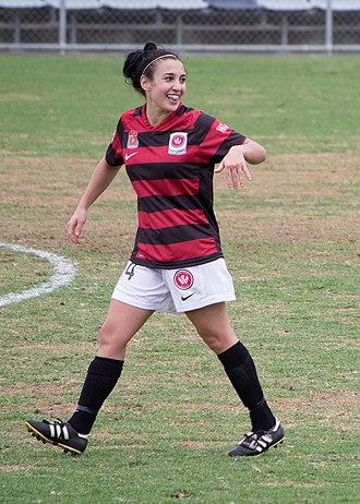Trudy Camilleri - Camilleri playing for Western Sydney Wanderers in 2012