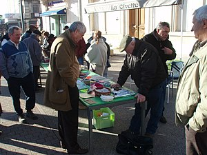 Truffle Market in Carpentras.