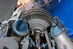 Turbine disc and blades of sectioned Rolls-Royce Dart turboprop.jpg