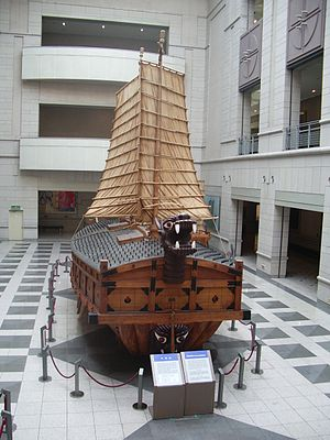 Naval history of Korea - A modern replica of the turtle ship.