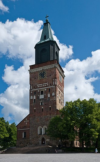 Turku Cathedral - Frontside of Turku Cathedral in summer 2008