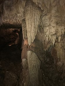 The Twin Sisters formation, a stalactite and stalagmite pair