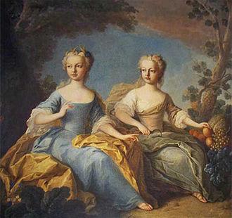 Archduchess Maria Johanna Gabriela of Austria - Joanna Gabriela and her favourite sister, Josepha