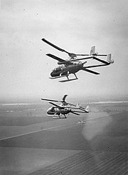 Two McDonnell XV-1s in flight