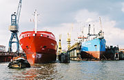 Hamburg Harbour is the second-largest port city in Europe and ninth-largest port in the world.