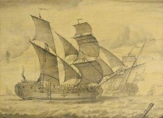Two Views of an English Brigantine