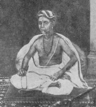 Tyagaraja - A painting of Tyagaraja from the Jaganmohan palace in Mysore.