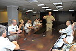 U.S. Navy Chief of Naval Operations Adm. Gary Roughead, standing, speaks with USS John C. Stennis Leadership Award winners, assigned to the aircraft carriers USS Abraham Lincoln (CVN 72) and USS Nimitz (CVN 68) 110708-N-ZB612-002.jpg