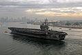 U.S. Sailors man the rails as the Nimitz-class aircraft carrier USS Ronald Reagan (CVN 76) pulls into Naval Air Station North Island, Calif. 081125-N-HX866-172.jpg